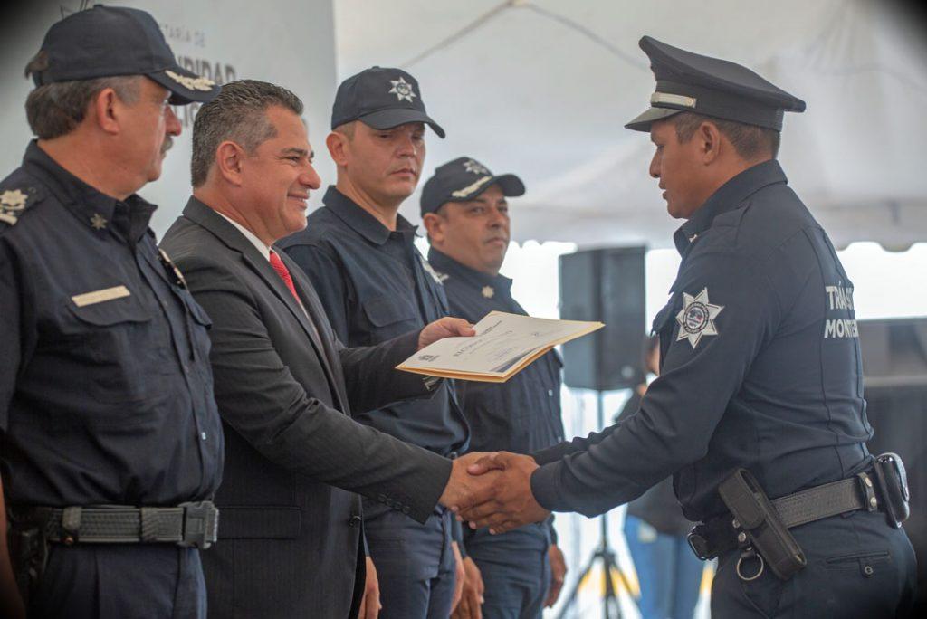 Egresados de la Academia de Policía de la ciudad de Monterrey, Nuevo León