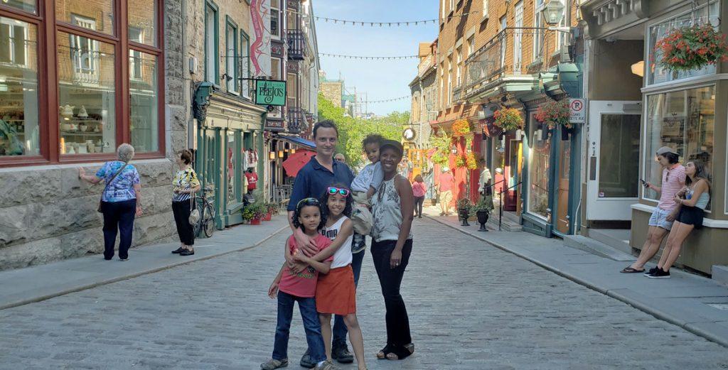 La familia Lüdtke en Quebec, Canadá.