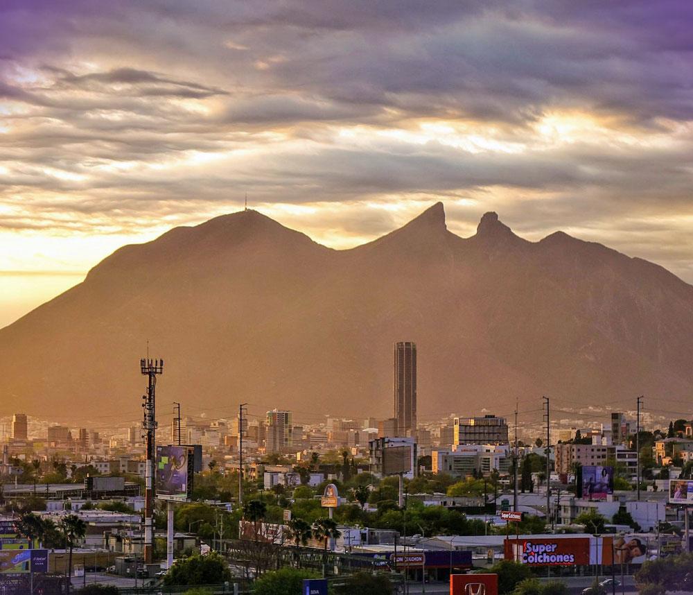vista espectacular de la ciudad de Monterrey