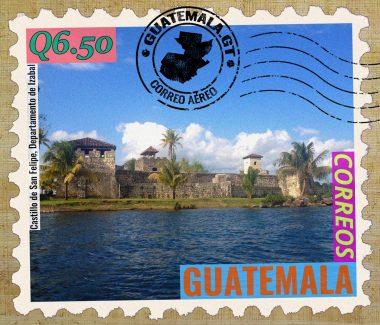Castillo de San Felipe de Lara, Lago de Izabal, Río Dulce, Guatemala, correos, sello