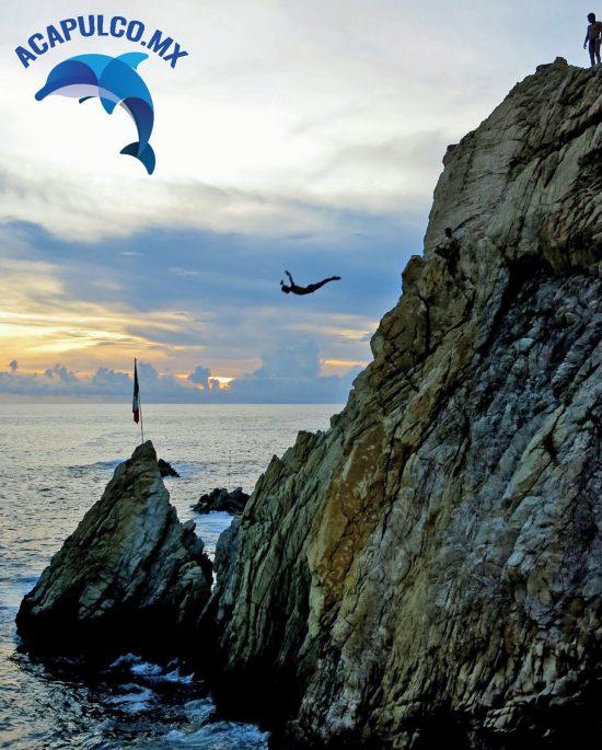 La Quebrada, salto ornamental, Acapulco, Guerrero