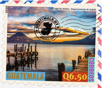 Lago de Atitlán, Departamento de Sololá, sello de correos